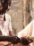 Peeling Cassava
