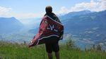 Overlooking the Swizz Alps