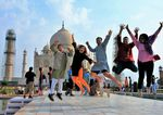 Jumping for Joy at the Taj by Denise Bugos