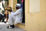 Cuban Musician by Caroline George